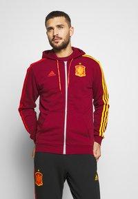 adidas Performance - FEF SPANIEN FZ HD - Zip-up hoodie - bordeaux - 0