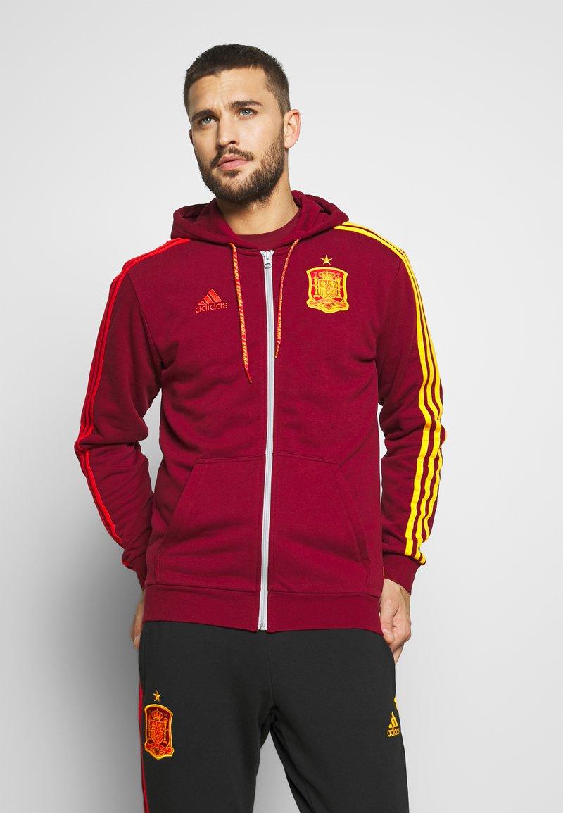 adidas Performance - FEF SPANIEN FZ HD - Zip-up hoodie - bordeaux