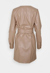 Missguided - BELTED LONG SLEEVE MINI DRESS - Day dress - beige - 1