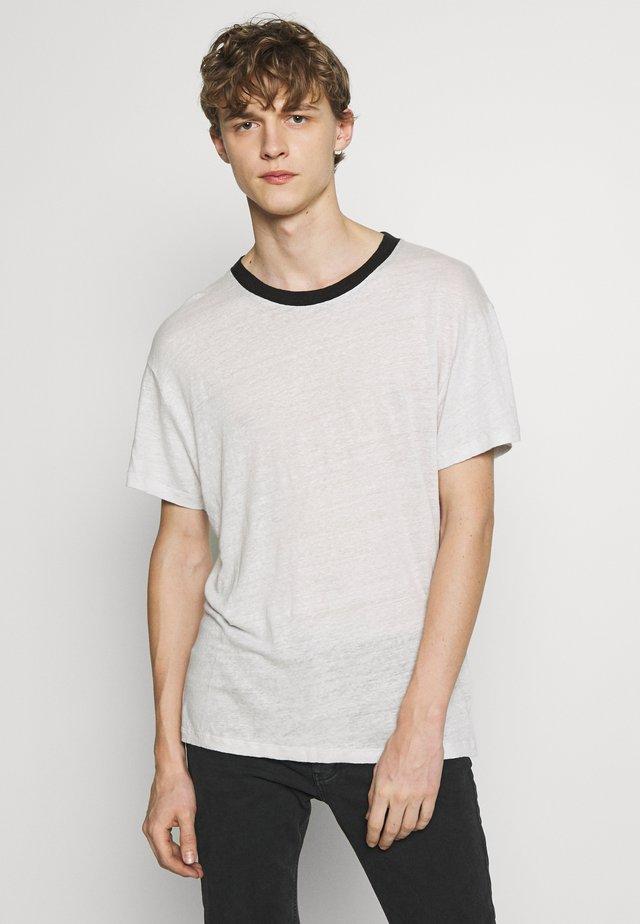 DRAYTON - Camiseta básica - grey white