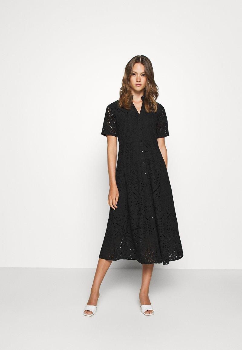 YAS - YASHOLI LONG  SHIRT DRESS  - Robe longue - black