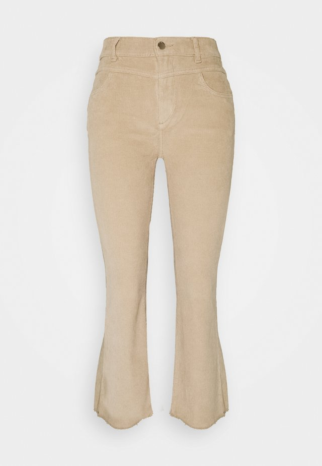 BRIDGET CROPPED HIGH RISE BOOTCUT - Pantalon classique - beige