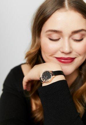 Watch - schwarz/roségold-coloured