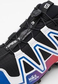 Salomon - SHOES SPEEDCROSS 3 ADV UNISEX - Sneakers basse - black/surf the web/goji berry - 5