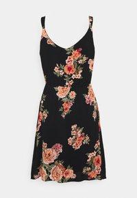 ONLY Petite - ONLKARMEN DRESS  - Vestido informal - black/orange - 1