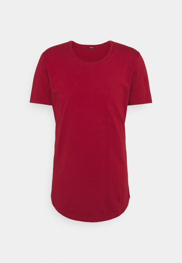 LUIS TEE  - T-shirt basique - dark red