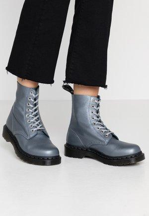 1460 PASCAL - Platform ankle boots - gunmetal/metallic virginia