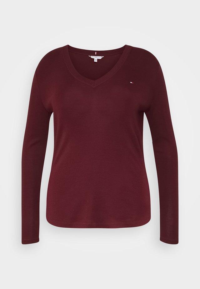 SLIM COSY - Maglietta a manica lunga - deep rouge