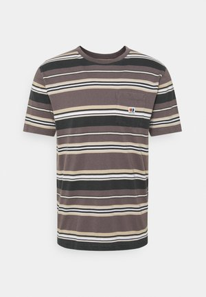 HILT ALTON - Print T-shirt - washed black/cloud
