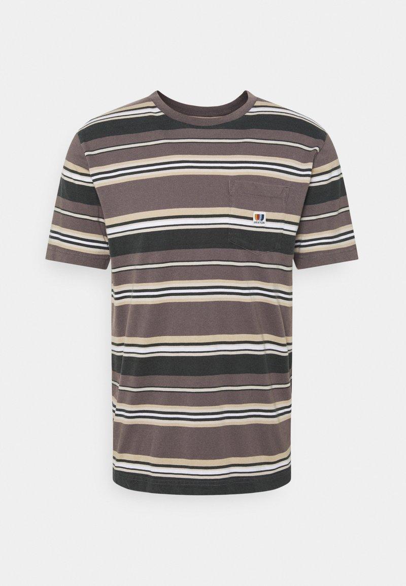 Brixton - HILT ALTON - Print T-shirt - washed black/cloud