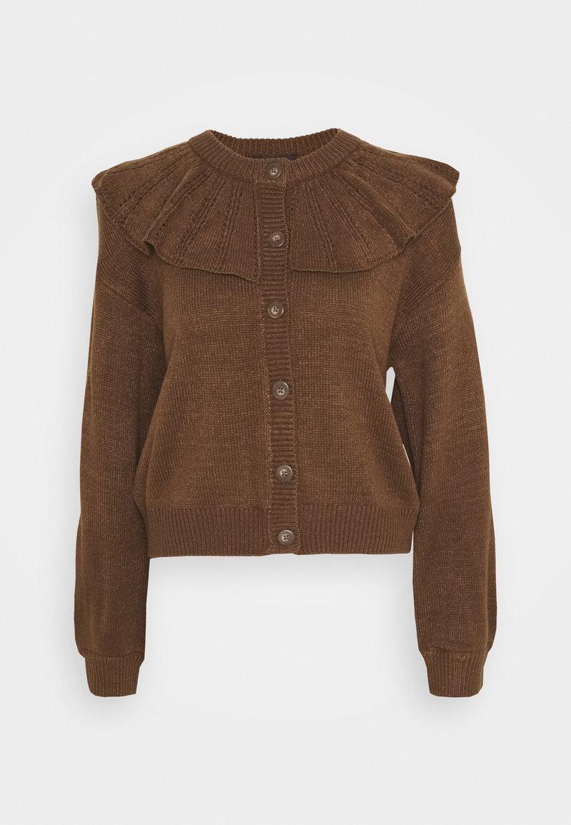 Monki - MIMMI  - Cardigan - brown medium dusty