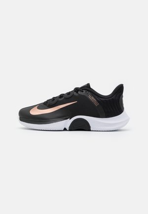 COURT AIR ZOOM TURBO - Multicourt tennis shoes - black/metallic red bronze/white