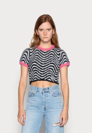 MIND - Print T-shirt - black/white