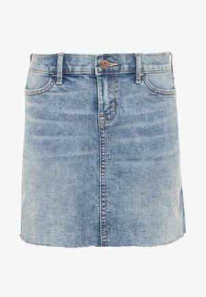 INDIGO STRUCTURED SKIRT - Jupe en jean - light acid wash