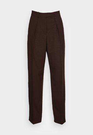 EBBE HOPSACK - Trousers - brown