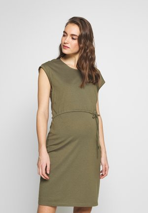 NURSING DRESS - Žerzejové šaty - burnt olive