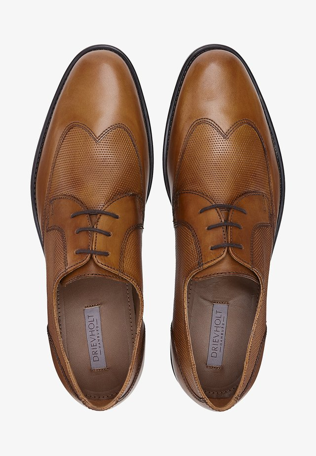 Smart lace-ups - mittelbraun