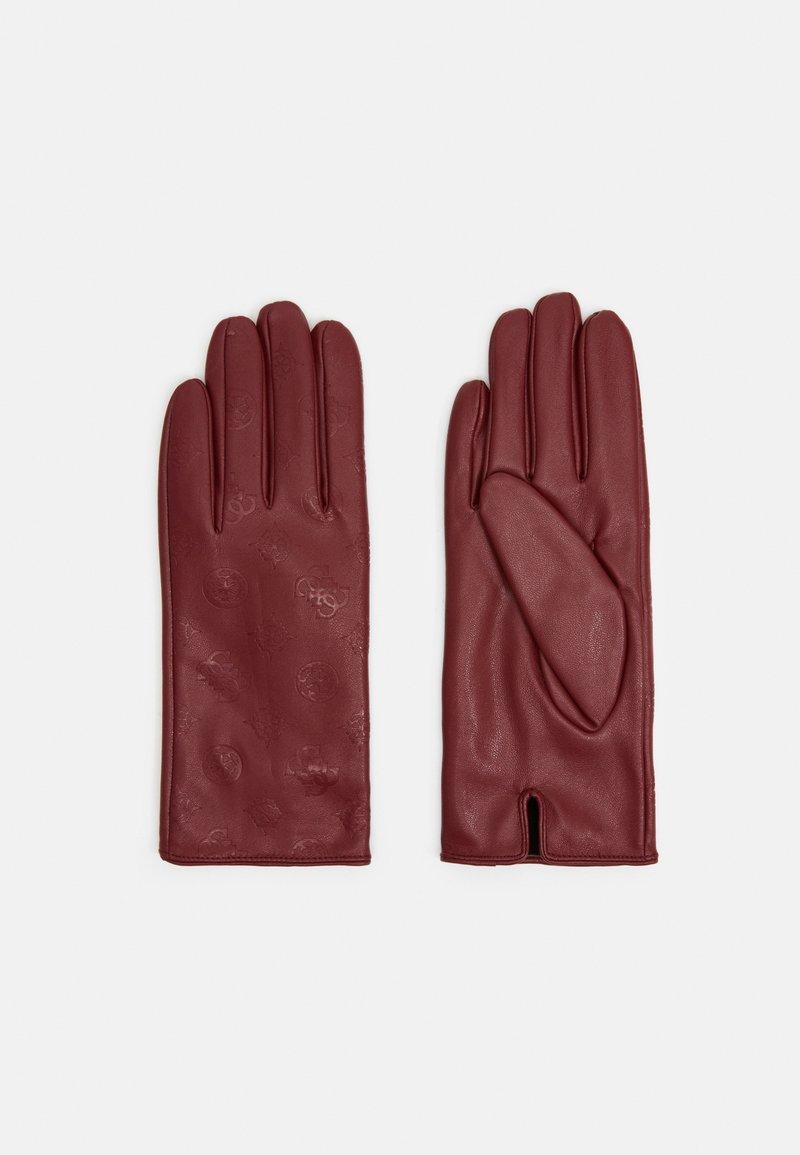 Guess - GLOVES - Gloves - merlot