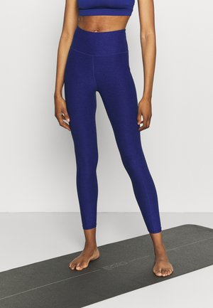 STUDIO YOGINI LUXE HIGH WAIST - Medias - elektro blue heather