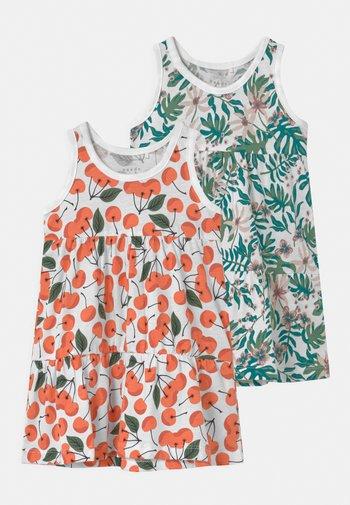 NMFVIGGA SPENCER 2 PACK - Jersey dress - persimmon