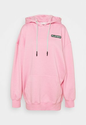 PLAYBOY BUNNY GRAPHIC HOODY DRESS - Vestido informal - pink