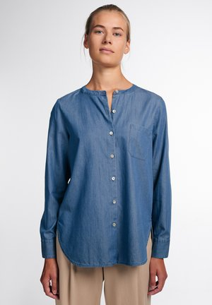 MODERN CLASSIC - Button-down blouse - jeansblau
