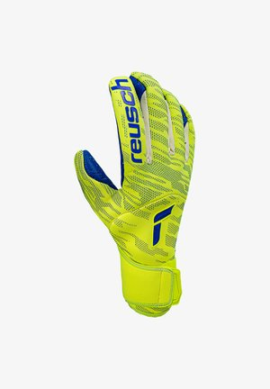 PURE CONTACT FUSION TW - Goalkeeping gloves - gelbblauweiss