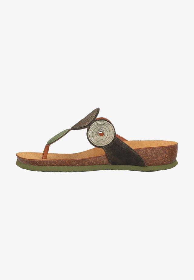 Sandales compensées - oliv/kombi