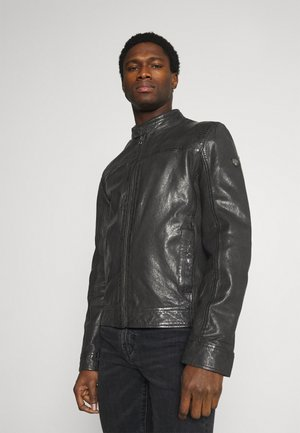 RYKER LABUV - Leather jacket - schwarz
