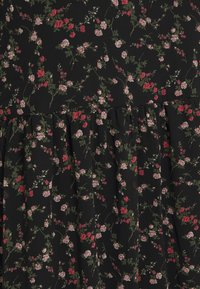 Vero Moda Curve - VMSYLVIA CALF DRESS - Day dress - black/rose flowers - 2