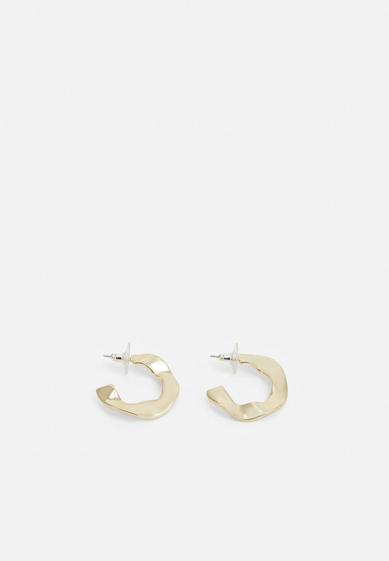 SNÖ of Sweden - PHOEBE BIG RING EAR PLAIN - Earrings - gold-coloured