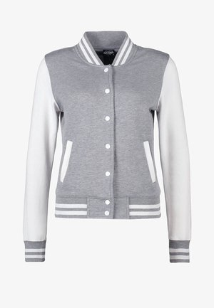 Bomber Jacket - grey/white