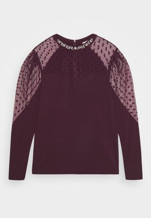 TEPOI - Long sleeved top - lie de vin