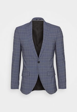 JPRBLAJONES CHECK SLIM - Blazer jacket - dark navy