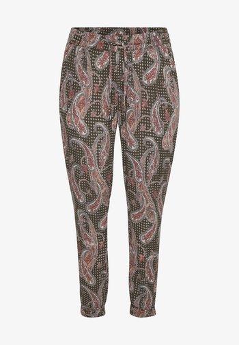 AMI  - Trousers - grape leaf paisley print