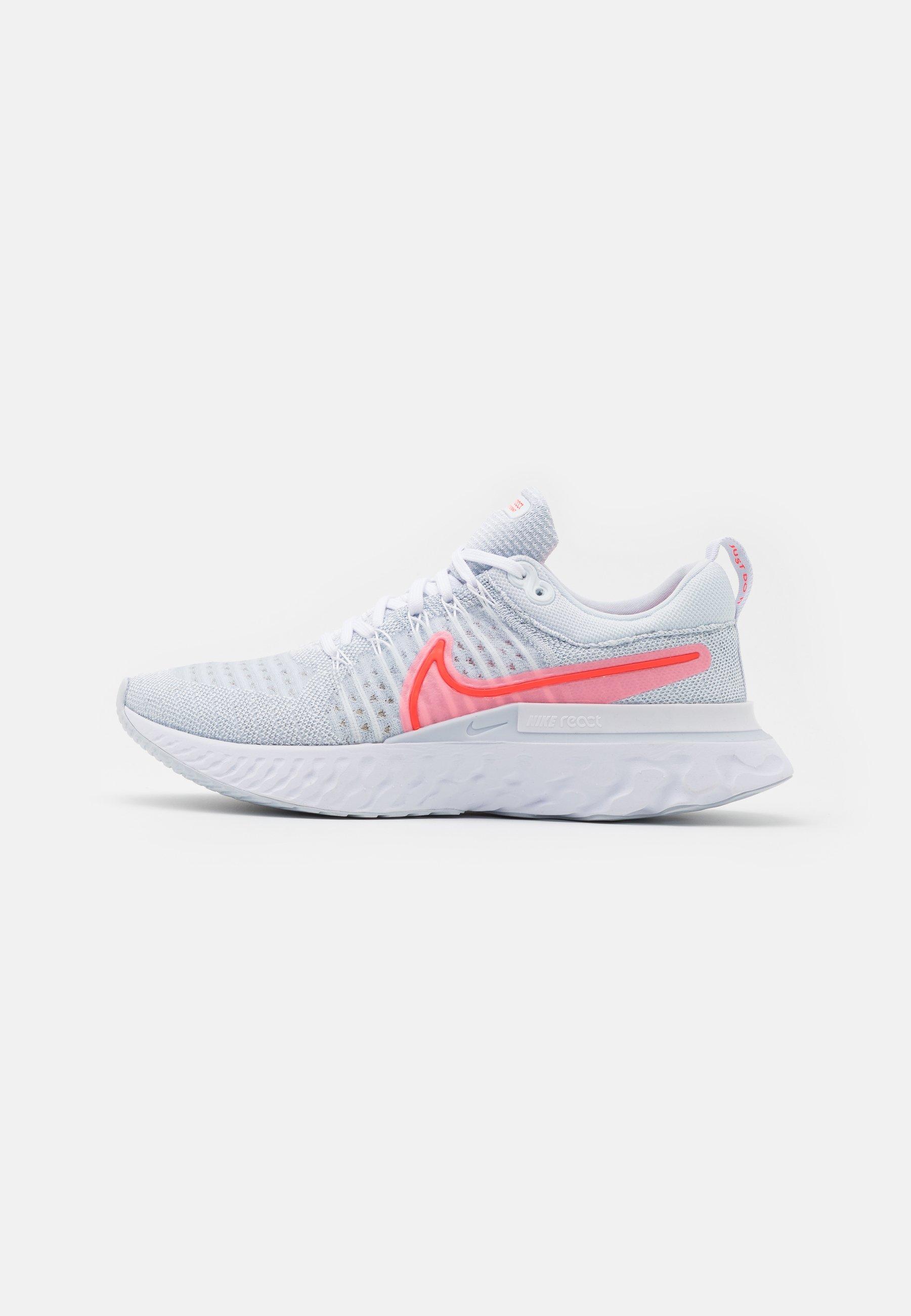 Women's Nike React Infinity Run Flyknit 2 'Platinum / Crimson' 0.49 Free Shipping