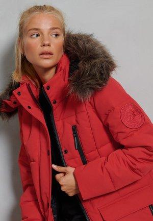 FAUX FUR EVEREST COAT - Down coat - high risk red