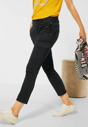 LOOSE FIT PAPERBAG - Cargo trousers - blau