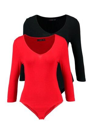 Top - dark red/black
