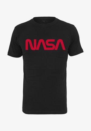 NASA WORM TEE - Print T-shirt - black/red