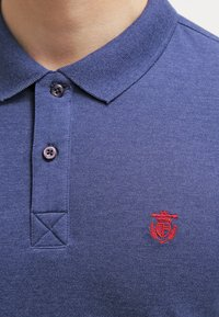 Selected Homme - SLHARO EMBROIDERY - Polo shirt - dark blue melange - 4