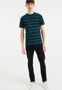 WE Fashion - Print T-shirt - greyish green - 1