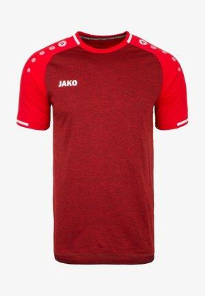 Print T-shirt - rot meliert/weiß