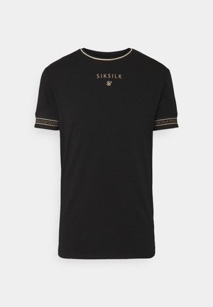 ELEMENT GYM TEE - Jednoduché triko - black/gold