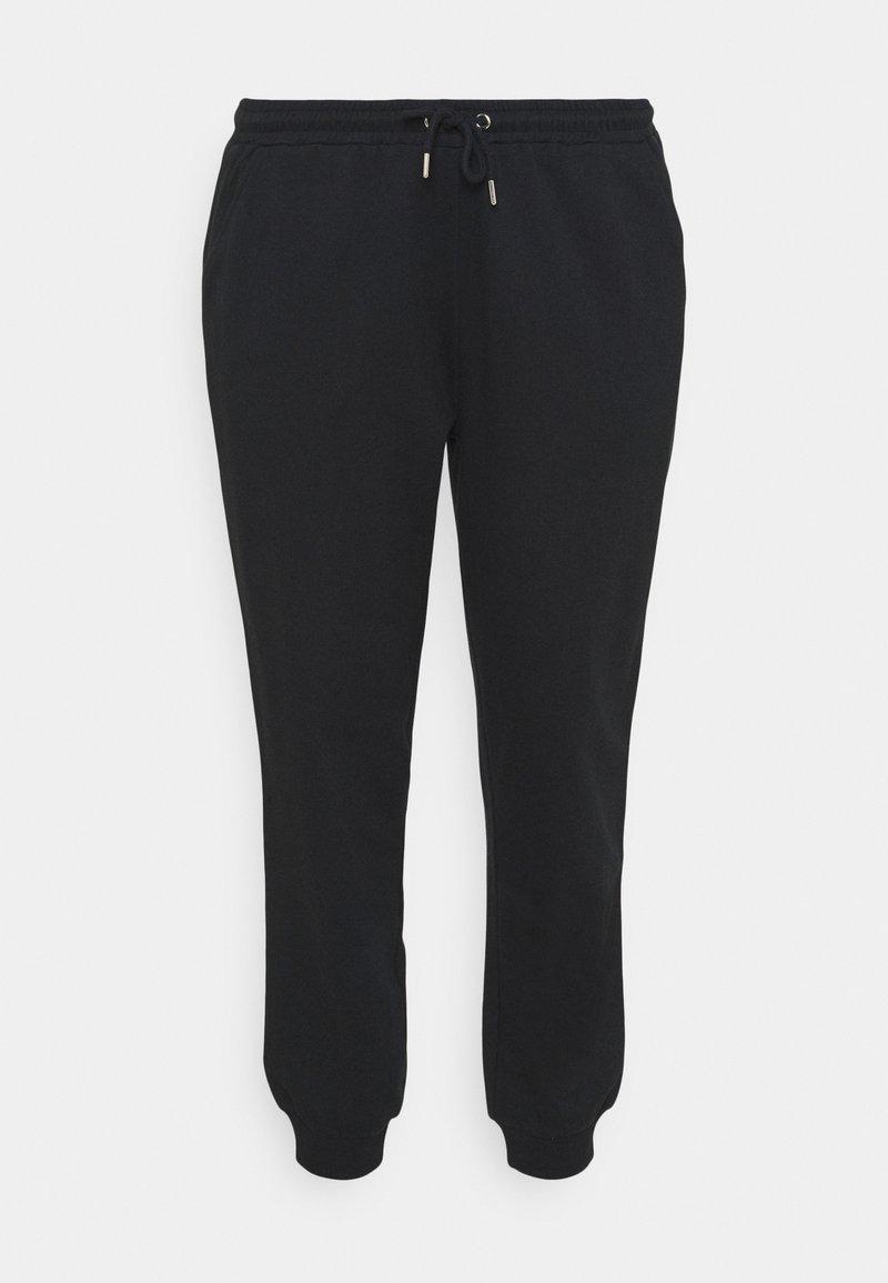 Even&Odd Curvy - Tracksuit bottoms - black