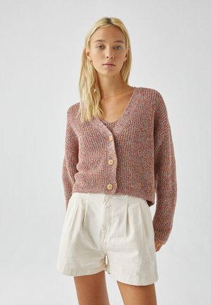 Cardigan - mottled red