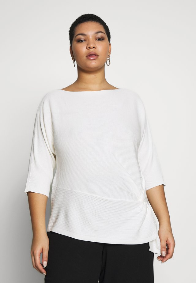 DOLMAN SIDE TWIST - Neule - white