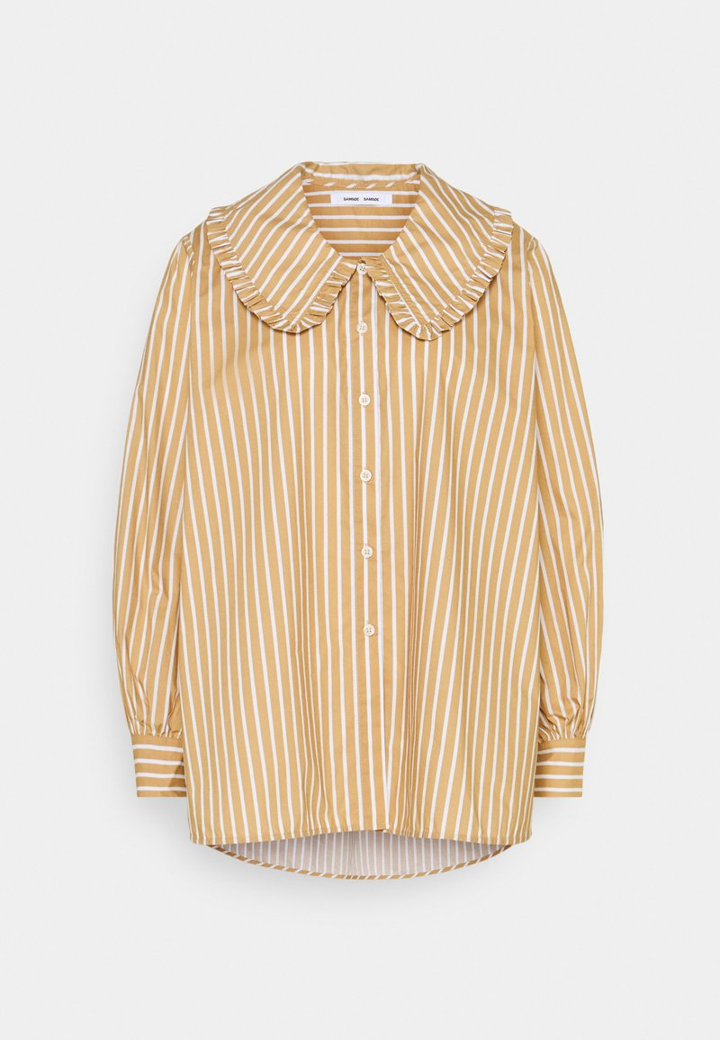 Samsøe Samsøe - FRANKA LONG - Button-down blouse - tan