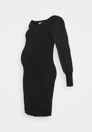 MLMADIA MIX DRESS - Pouzdrové šaty - black