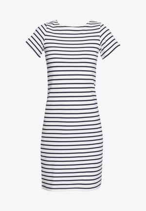RIVIERA LONG - Jerseykjole - off-white/dark blue